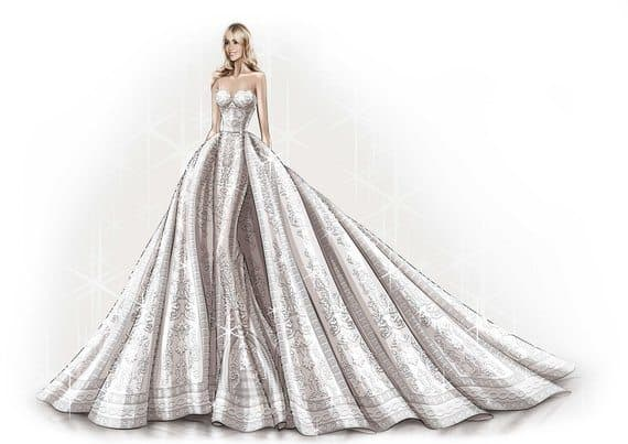 zuhair-murad-sofia-vergara-wedding-dress-sketch