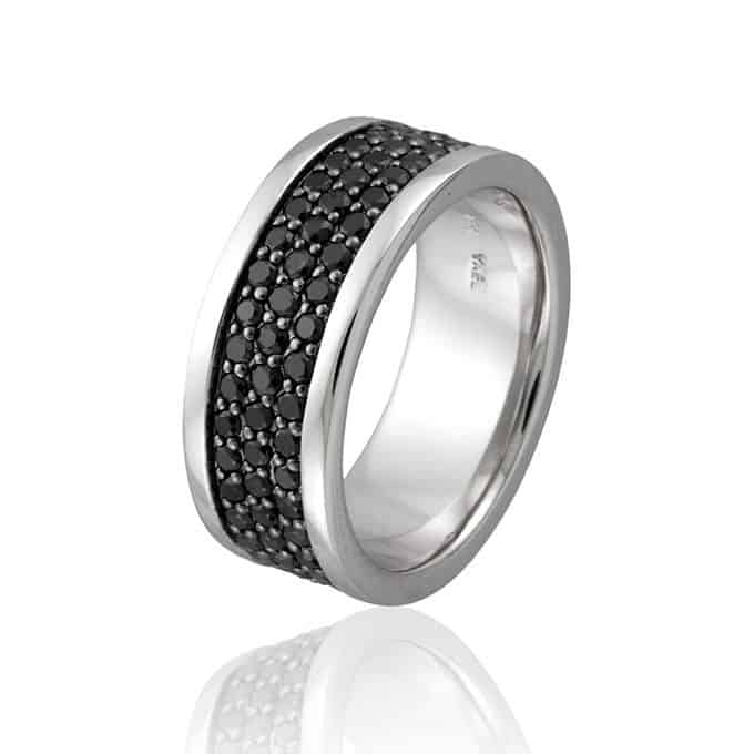 Style-05331-black-diamond-band-set-in-14K-white-gold-4100-Yael-Designs