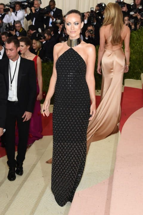 OLIVIA-WILDE-In-a-Michael-Kors-Collection-dress-and-Jennifer-Fisher-jewelry.