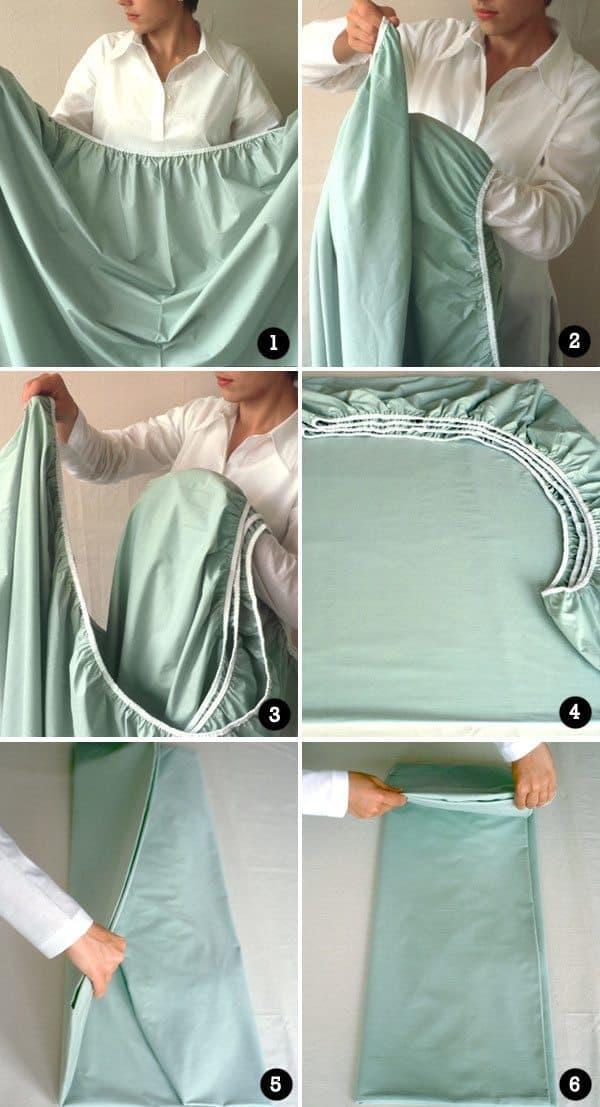 como-dobrar-lençol-de-elástico