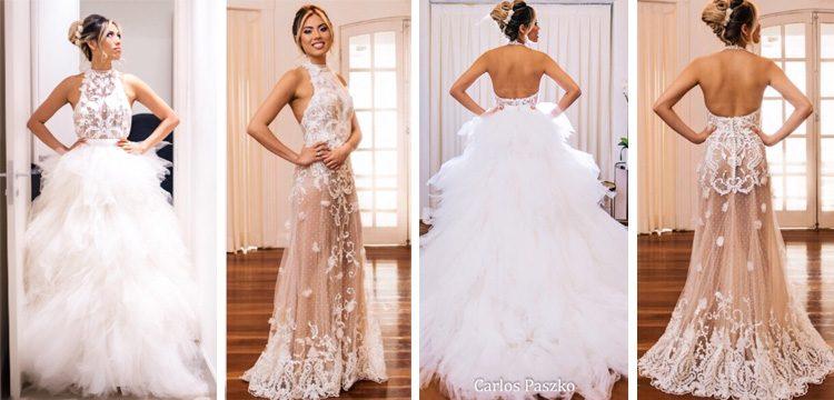 394aa25bfe Vestido de noiva 2 em 1 por Carol Hungria. Veja matéria completa ...