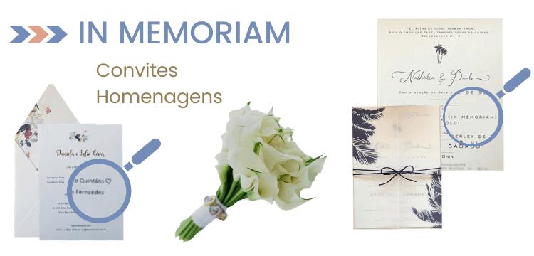 Convite de casamento - in memoriam -