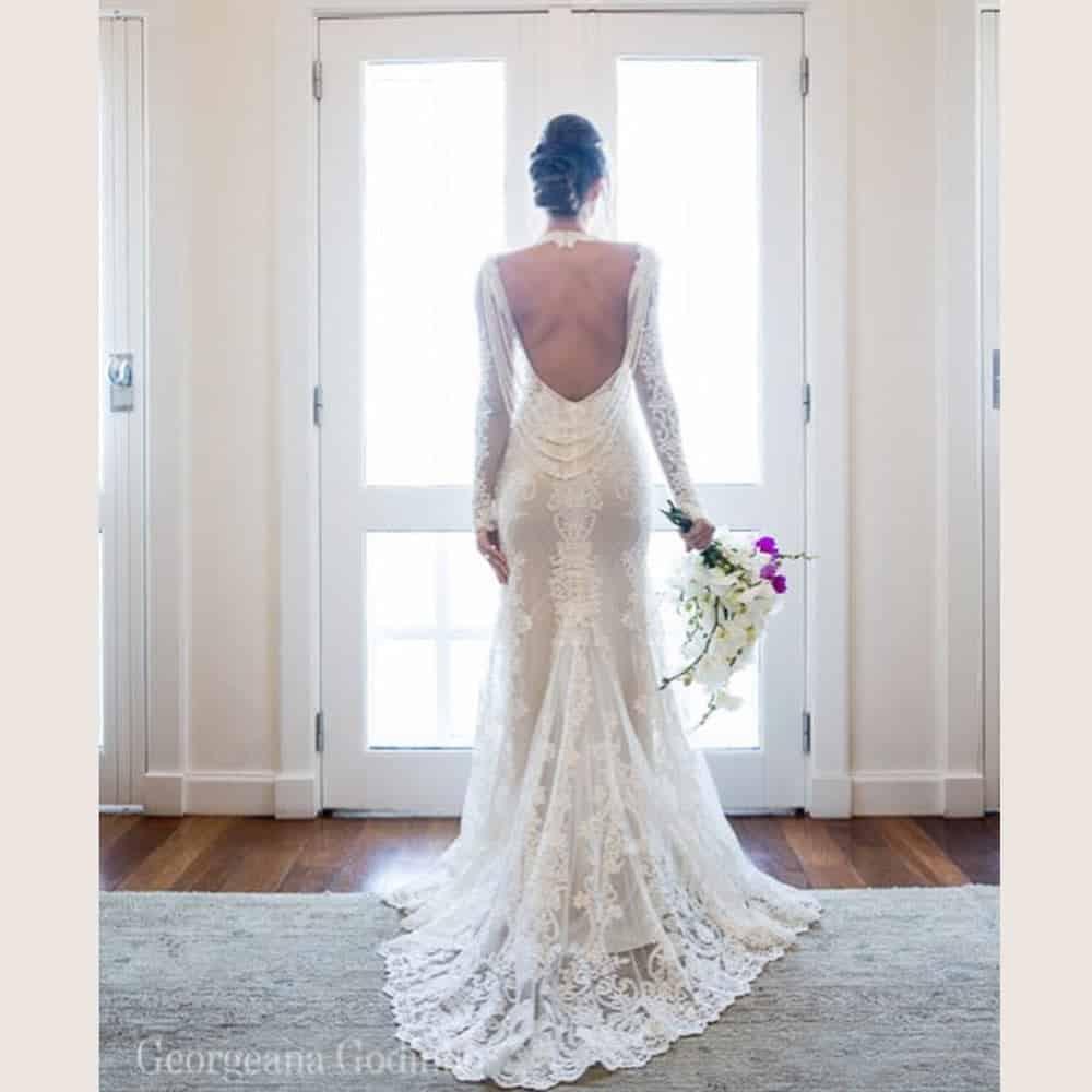 Decote-Vestido-Noiva-renda-sereia-manga-comprida