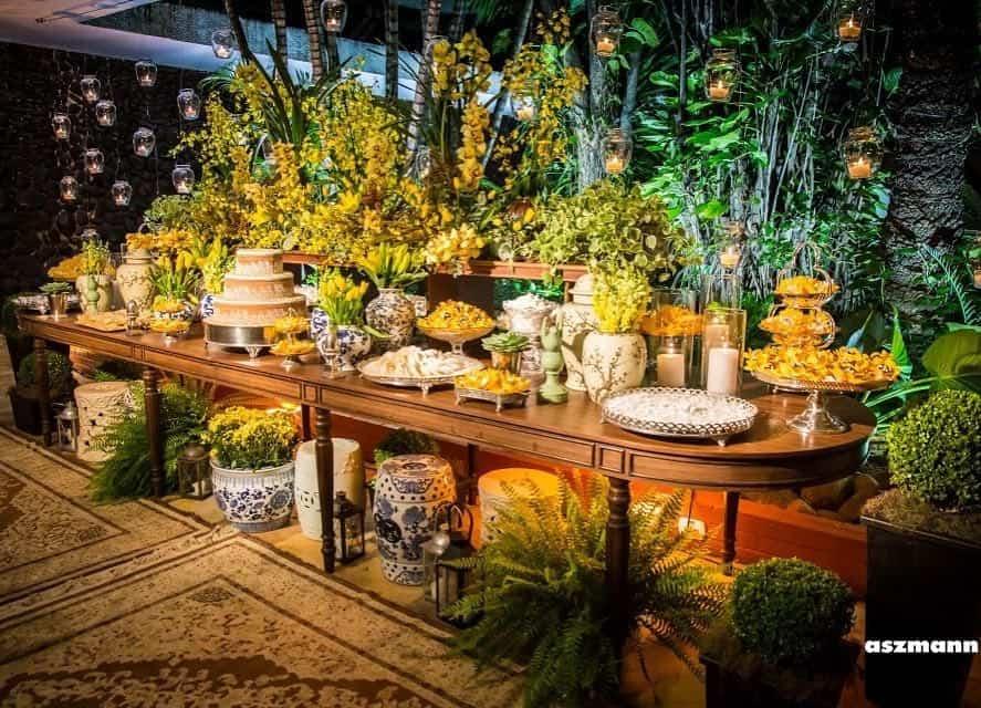 5 tipo de decoração casamento: Monocromática