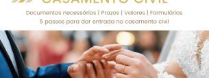 5 passos para casamento civil